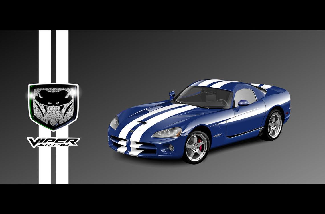 vektorová ilustrácia Dodge Viper