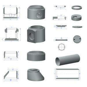 Nákresy a modely kanalizačné systémy pre Prefa