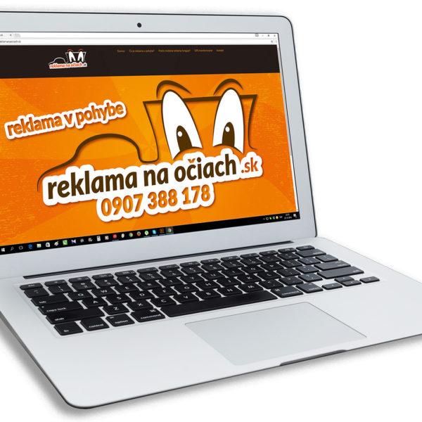 stránka www.reklamanaociach.sk